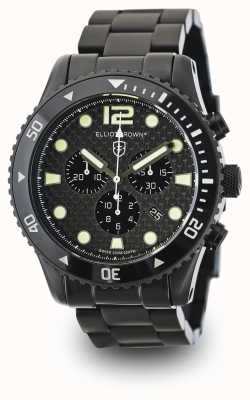 Elliot Brown Mens Bloxworth Black PVD Plated Carbon Dial 929-002-B03