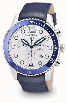 Elliot Brown Mens Bloxworth Blue Leather Cream Dial 929-008-L06
