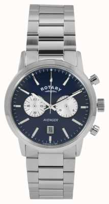 Rotary Mens Avenger Stainless Steel Blue Dial GB02730/05