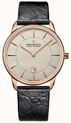 Dreyfuss Gents Black Leather watch DGS00139/46