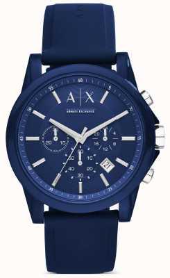 Armani Exchange Chronograph Blue Silicone AX1327
