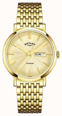 Rotary Mens Gold Plated Gold Dial GB05303/03