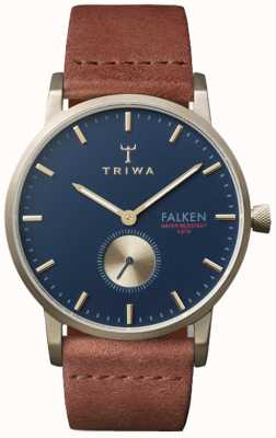 Triwa Unisex Brown Leather Falken Navy Dial FAST104-CL010217