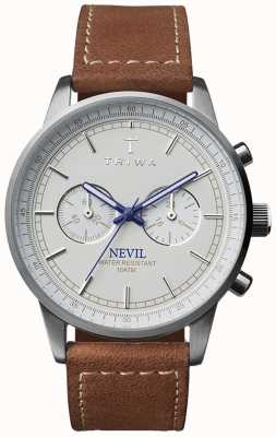 Triwa Unisex Brown Leather Strap Ivory Nevil NEST112-SC010215