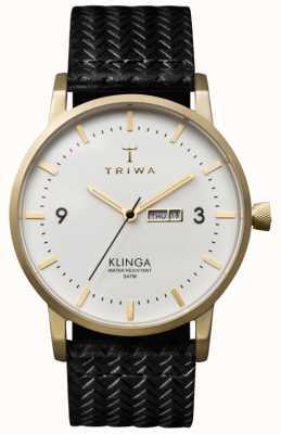 Triwa Unisex White Dial Klinga With Leather Strap KLST103-GC010113