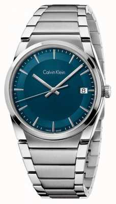 Calvin Klein Mens Step Teal Dial K6K3114L