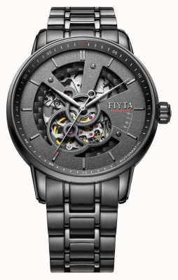 FIYTA Mens Photographer Automatic Skeleton Black PVD Plated GA8486.BBB