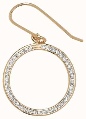Treasure House 9k Yellow Gold Diamond Drop Hoop Earrings ER971