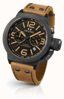TW Steel Mens Canteen Light Brown Leather Strap CS44