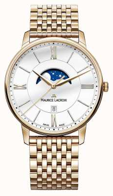 Maurice Lacroix Mens Eliros Gold Plated Moonphase Watch EL1108-PVP06-112-1
