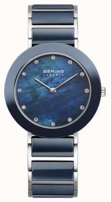 Bering Womans Navy Metal Strap Navy Dial 11435-787
