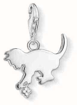Thomas Sabo Kitten Charm White 925 Sterling Silver/ White Diamond DC0025-725-14