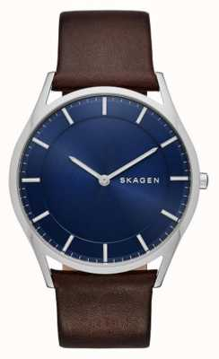 Skagen Brown Leather Holst Watch SKW6237