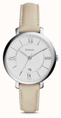Fossil Womens Jacqueline Cream Leather Strap ES3793