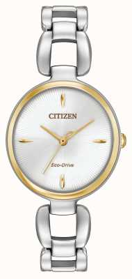 Citizen Womens Two Tone Stainless Steel Bracelet EM0424-53A
