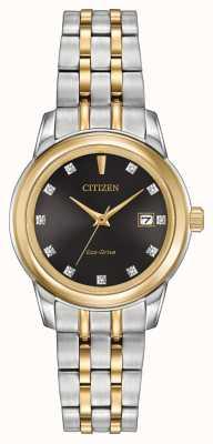 Citizen Womens 11 Diamond Two Tone Stainless Steel EW2394-59E