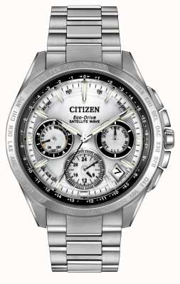 Citizen Mens Eco-Drive Silver Satellite Wave F900 CC9010-74A
