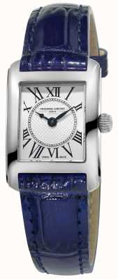Frederique Constant Womens Carree Blue Leather Strap Silver Dial FC-200MC16