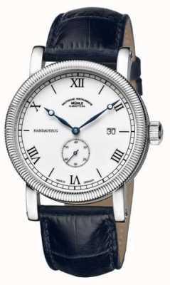 Muhle Glashutte Teutonia III Handaufzug Kleine Sekunde Leather Band White Dial M1-08-11-LB