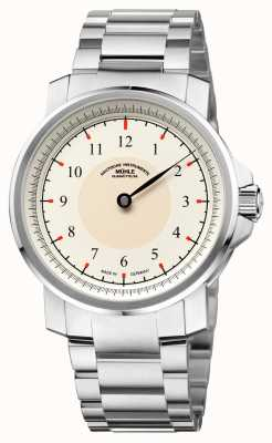 Muhle Glashutte M 29 Classic Einzeiger Stainless Steel Band Cream Dial M1-25-59-MB