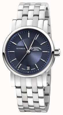 Muhle Glashutte Teutonia II Medium Stainless Steel Band Night Blue Dial M1-30-22-MB