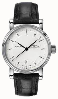 Muhle Glashutte Teutonia II Chronometer Leather Band Silver Dial M1-30-45-LB