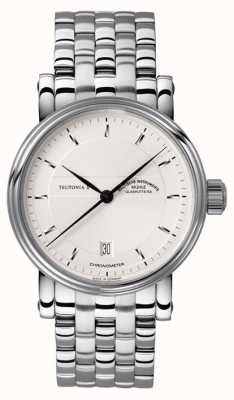 Muhle Glashutte Teutonia II Chronometer Stainless Steel Band Silver Dial M1-30-45-MB