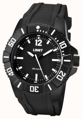 Limit Mens Active Black Strap Black Dial 5545.02