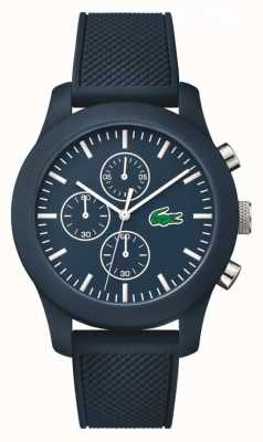 Lacoste Unisex Navy Rubber Strap Navy Chronograph Dial 2010824