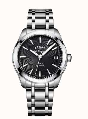 Rotary Womans Stainless Steel Strap Black Dial LB90165/04