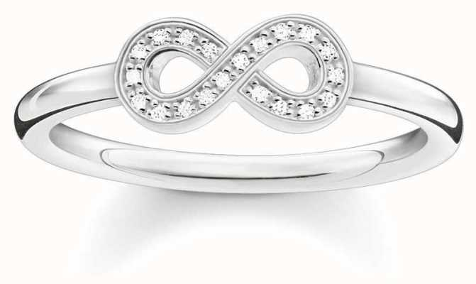 Thomas Sabo Sterling Silver Infinity Ring 52 D_TR0001-725-14-52