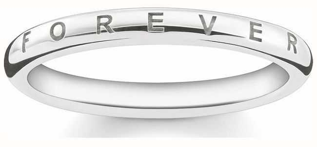 Thomas Sabo Sterling Silver Forever Ring 56 D_TR0001-725-14-56