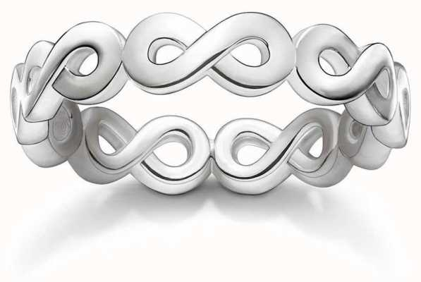 Thomas Sabo Sterling Infinity Silver Ring 56 TR2124-001-12-56