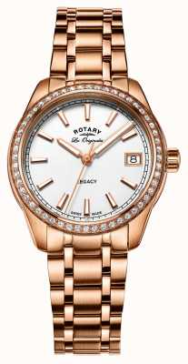 Rotary Womens Legacy Rose Gold Plated Stainless Steel LB90176/01