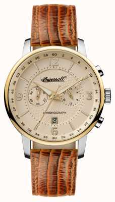 Ingersoll Mens 1892 The Grafton Brown Leather Strap Cream Dial I00603