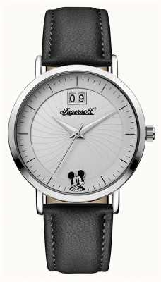 Disney By Ingersoll Womens Union The Disney Black Leather Strap ID00501