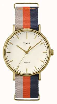 Timex Unisex Weekender Fairfax Orange Brown Strap TW2P91600