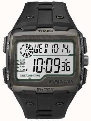 Timex Mens Grid Shock Alarm Chronograph All Black TW4B02500