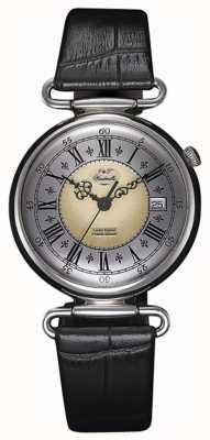 J&T Windmills Mens Throgmorton Mechanical Sterling Silver Watch WGS10002/50