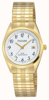 Pulsar Womens Gold Tone Stainless Steel White Dial PH7444X1