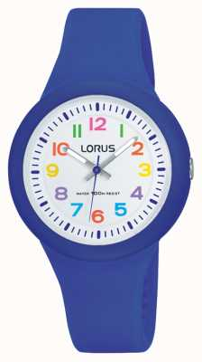 Lorus Unisex Blue Rubber Strap White Dial RRX45EX9