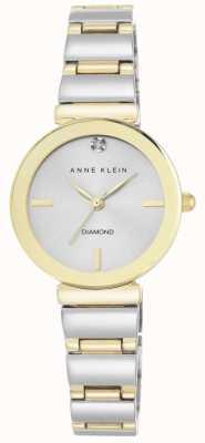 Anne Klein Women Two Tone Bracelet Silver Dial AK/N2435SVTT