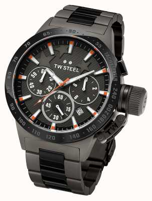 TW Steel Mens Canteen Dark Titanium Black Chronograph TW313