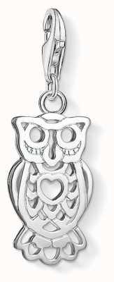 Thomas Sabo Owl Love Heart Charm Pendant 1393-001-12