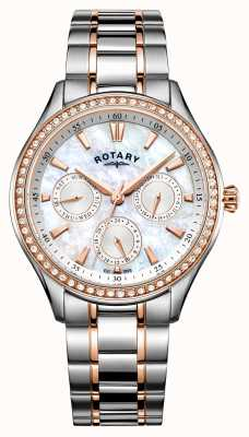 Rotary Womans Hampstead Stainless Steel Two Tone Strap LB05057/41