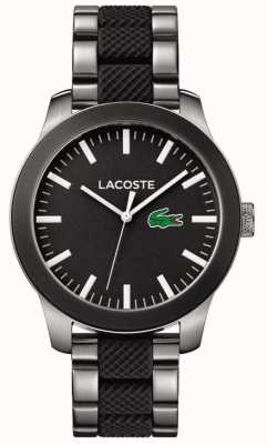 Lacoste Mens Black Dial Black Rubber And Stainless Steel Strap 2010890