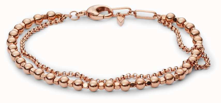 Fossil Womens PVD Rose Gold Plated Bracelet JA6776791
