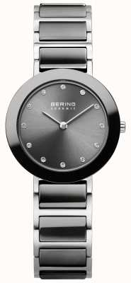 Bering Womans Stainless Steel Grey Ceramic 11429-783