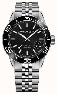 Raymond Weil Mens Automatic Black Dial Stainless Steel 2760-ST1-20001