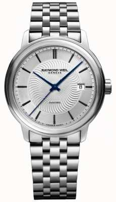 Raymond Weil Mens Maestro Automatic Stainless Steel Exhibition Case 2227-ST-65001